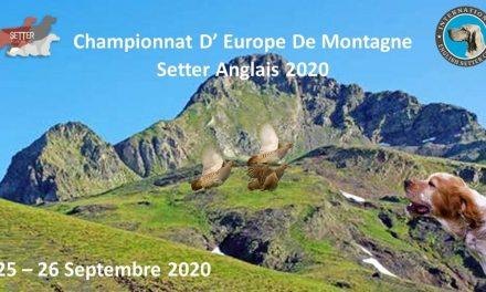 CHAMPIONNAT D'EUROPE MONTAGNE 25 & 26 SEPTEMBRE 2020 (ESPAGNE)