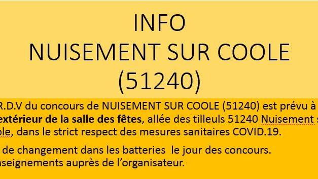 NUISEMENT SUR COOLE (51240) info