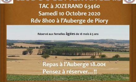 TAC JOZERAND (63) SAMEDI 10 OCTOBRE 2020