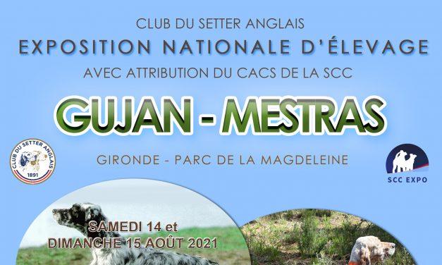 NATIONALE D'ÉLEVAGE DU CLUB DU SETTER ANGLAIS GUJAN-MESTRAS (33) – 14 & 15/08/2021