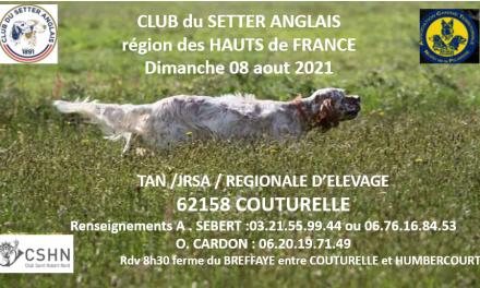 COUTURELLE TAN – JRSA – RÉGIONALE D'ÉLEVAGE 2021