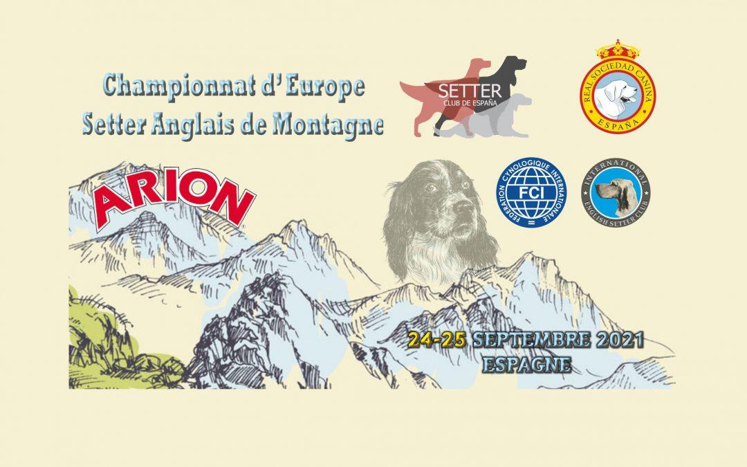 Championnat d'Europe Montagne 24 & 25 septembre 2021 ARION (ESPAGNE)