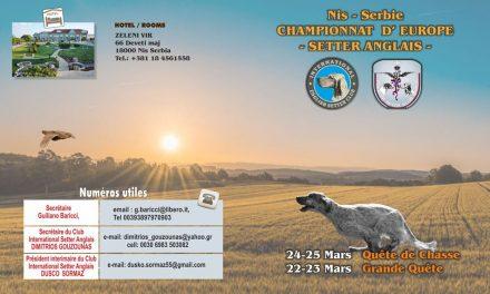 Annulation des Championnats d'Europe Serbie 2020
