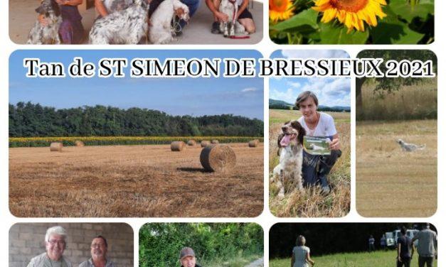 Résultats TAN SAINT SIMÉON DE BRESSIEU 2021